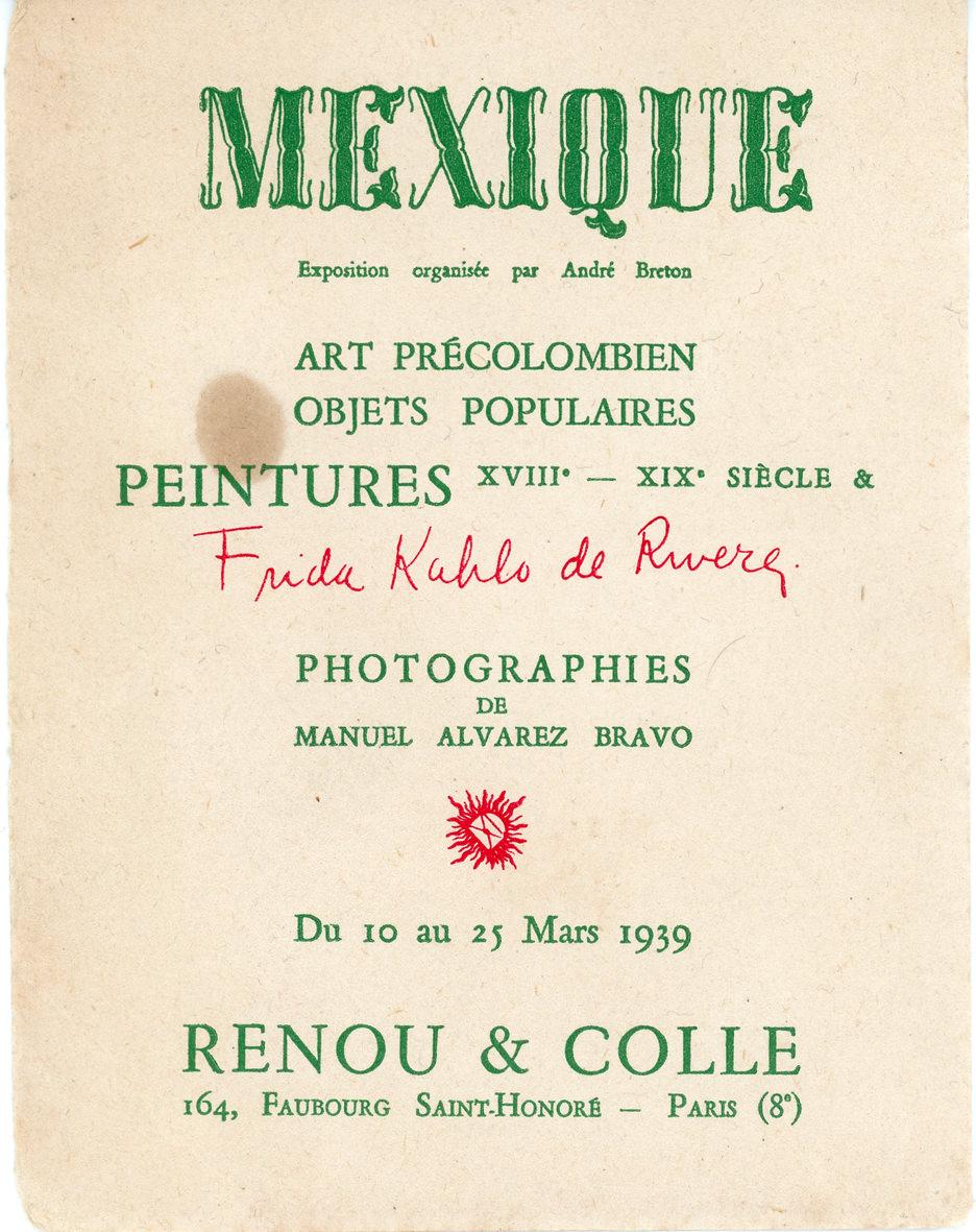INVITATION EXPO MEXIQUE 1939